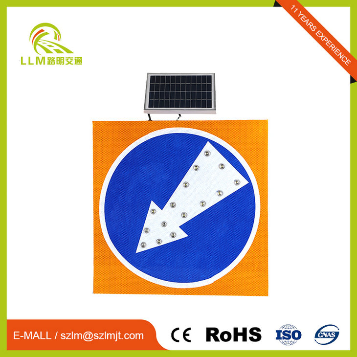 Highway safety solar flashing traffic sign aluminum board sign