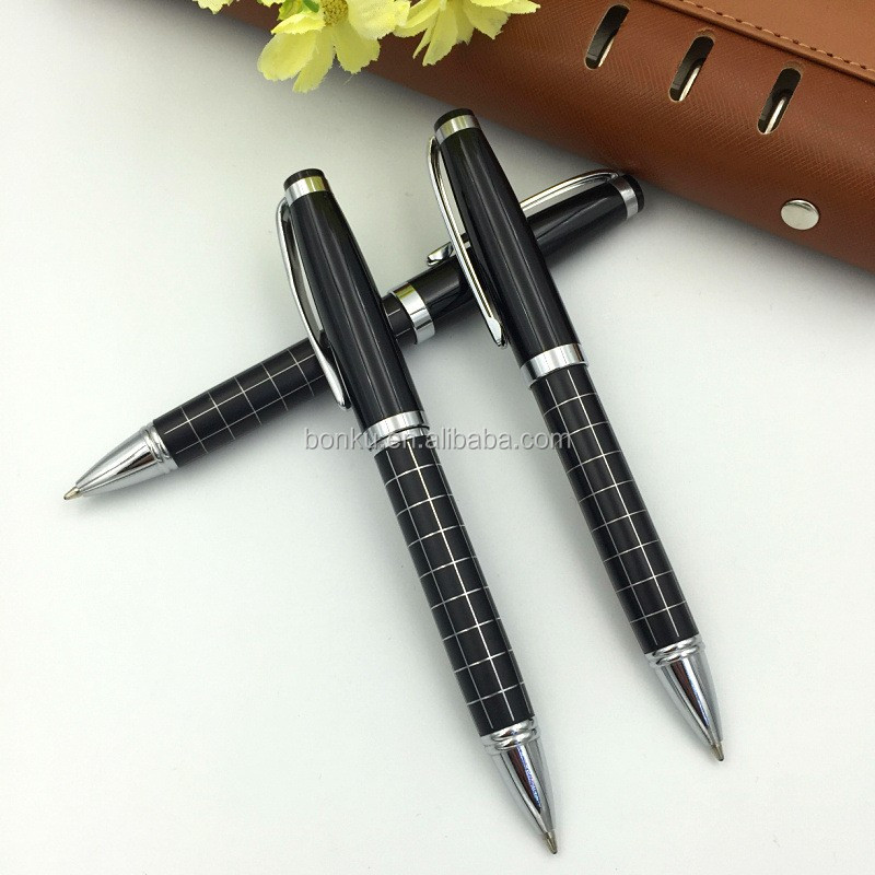 jewelled gift promotional customized metal logo ball pen