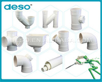 OEM custom design upvc pipes and fittings for water supply