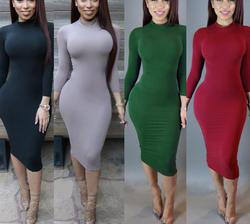 up-0064r Autumn women sexy night dress ladies fashion long sleeve dresses