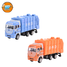 Yibao mini model toy slide rubbish truck diecast car