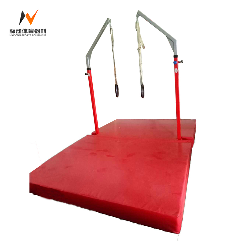 Best indoor kids metal pulled up bar gymnastics with rings for sale