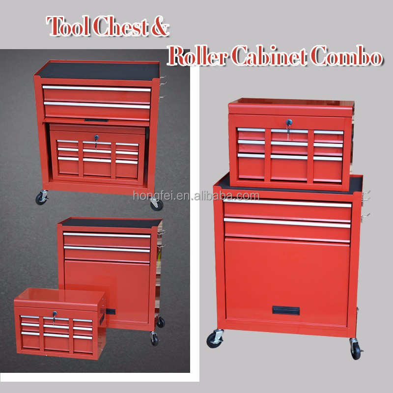 Drawer Metal Tool Box Trolley with Wheels