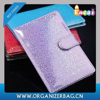 Encai Newest Travel Bling PU Passport Cover Wholesale Passport Case Stocked Colourful Passport Holder