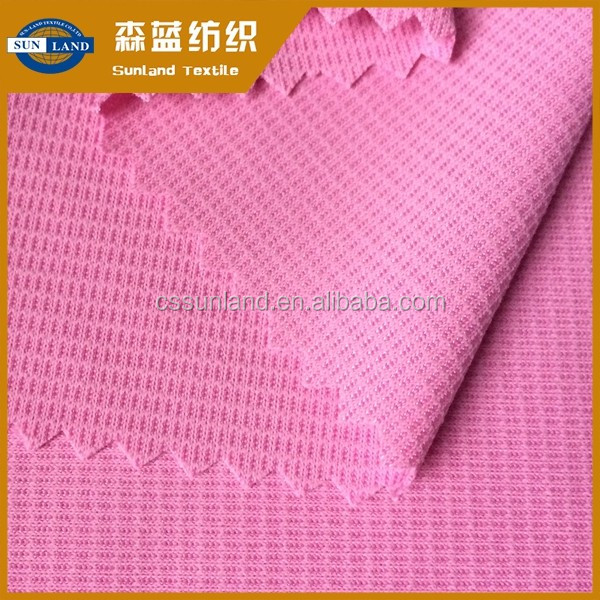 2017 New Product anti-uv quick dry fit mini waffle for sunmmer garment