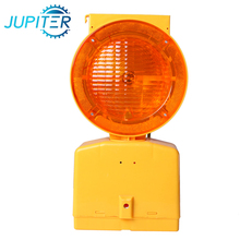 High visibility rotary flashing portable road safety solar led warning light