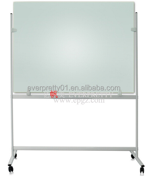 standard size whiteboard glass white board with stand H stand