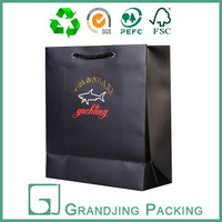Luxury black shopping paper bag for dubai