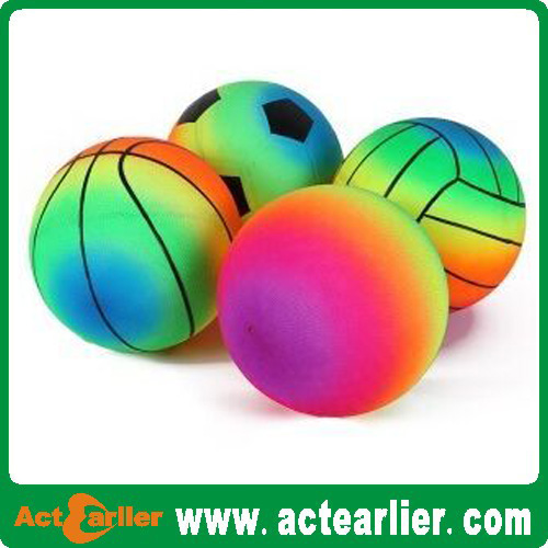 high quality inflatable pvc rainbow toy basketball ball