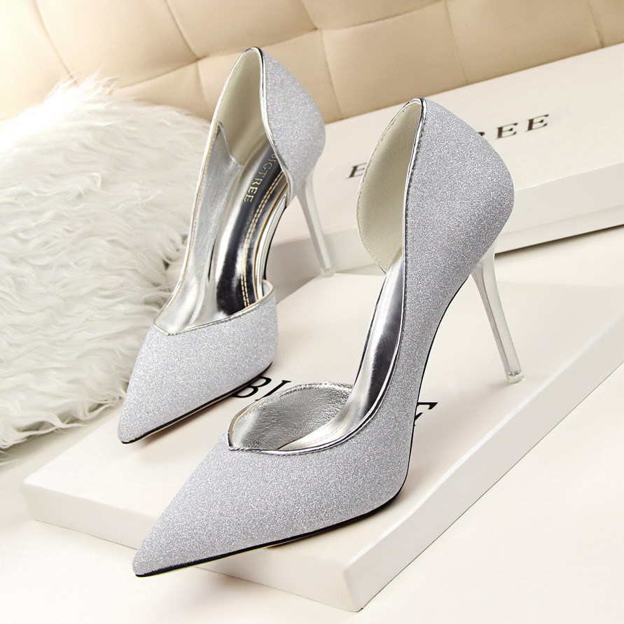 BU07 2016 high heels patent leather women pumps pointed toe sexy ladies stiletto shoes