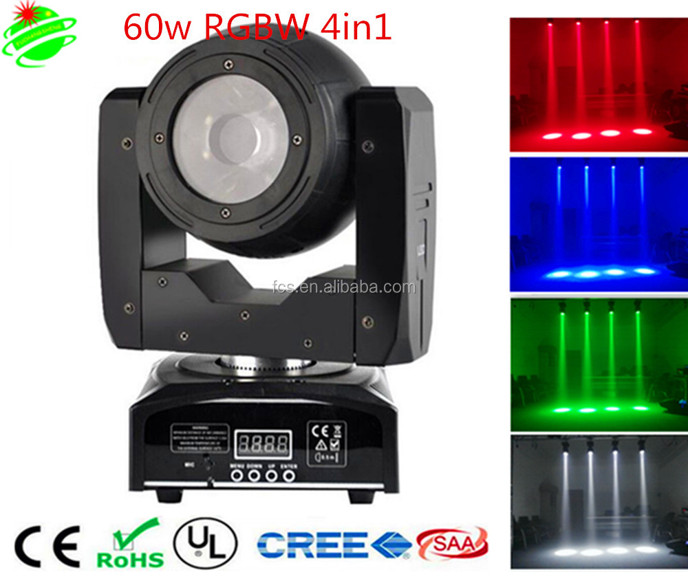 hot sale LED 60w beam 4in1 rgbw moving head led dj light wash stage moving head light