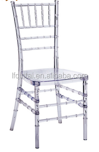 Popular new design wedding clear chiavari chair silver tiffany chair