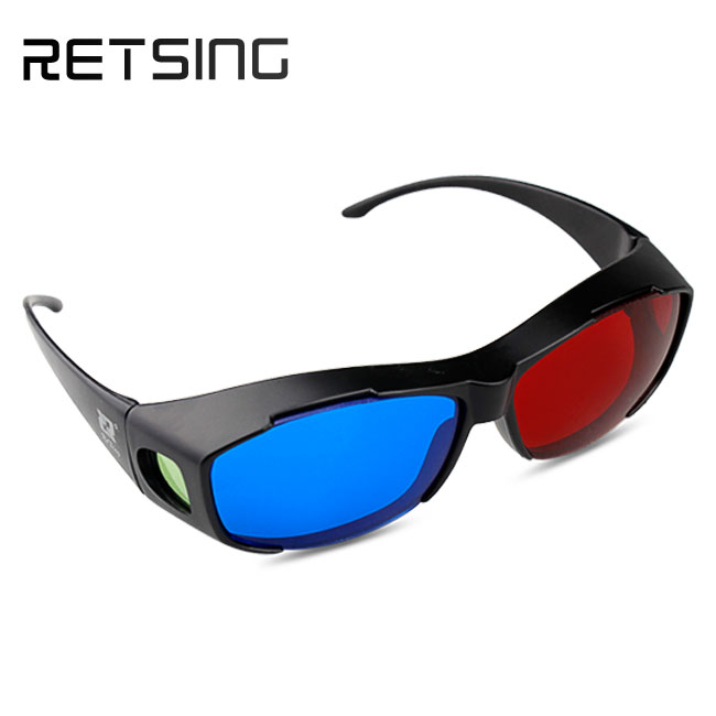 Red and blue 3d glasses for 3d movies