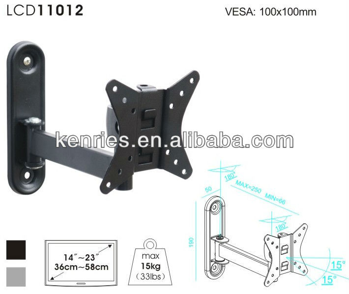 universal rotating lcd/led/plasma movable tv wall mount for 14''~23''