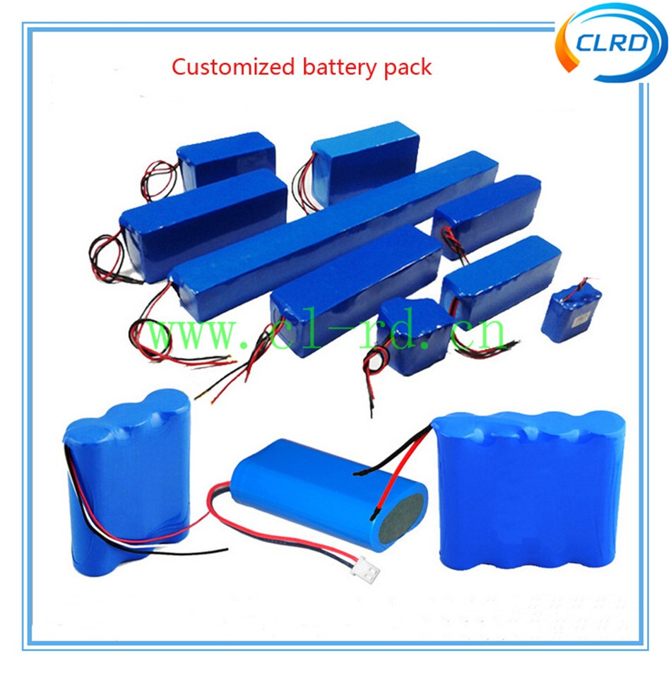 OEM customized li-ion battery pack 3.7v 7.4v 11.1v 14.8v 16.8v 12v