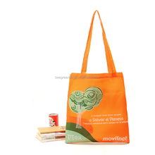 Beegreen Super Convenient Long Handle Polyester shopping tote bag With snap pouch