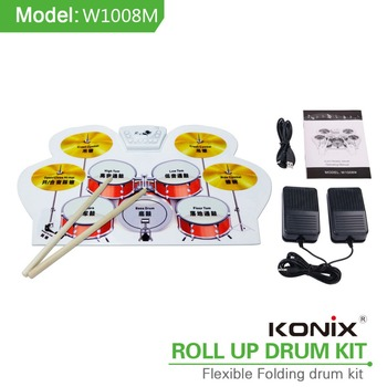 FlexiMusical Toy kid practise pad Virtual Flexible Drum With Midi Function And Material Silcone Game Drum Kits as gift for Child