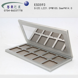 ES0593 luxury paper cardboard cosmetic packaging eyeshadow palette