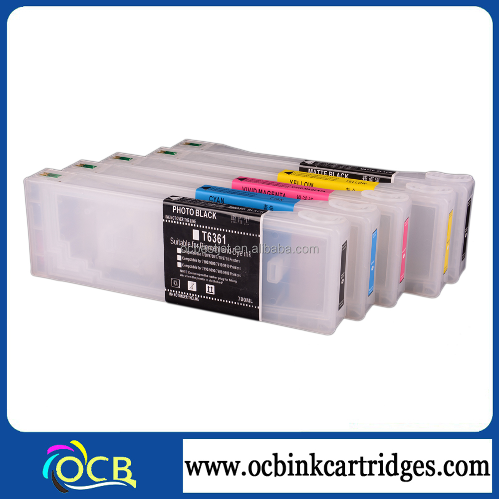 OCBESTJET Gold Printer Supplies Refill Ink Cartridge For Epson 7700 9700 7710 9710 Made In China
