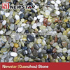 Newstar natural pebble cobble stone mat carpet