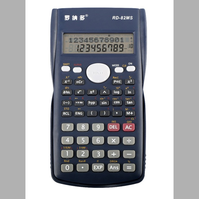 electronic jumbo scientific calculator credit card size calculator 240 functions factor calculator with cover