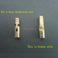High quality solid brass small cylindrical concealed hinge for wooden box