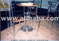 stainless steel chair,table