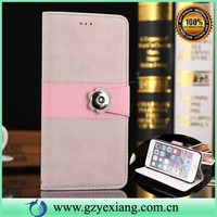 fancy mobile phone flip cover for huawei y300 leather back case
