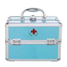 OEM small aluminum home hospital pill car emergency first aid kit