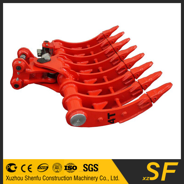 4T mini excavator tilting hydraulic root rake bucket with teeth