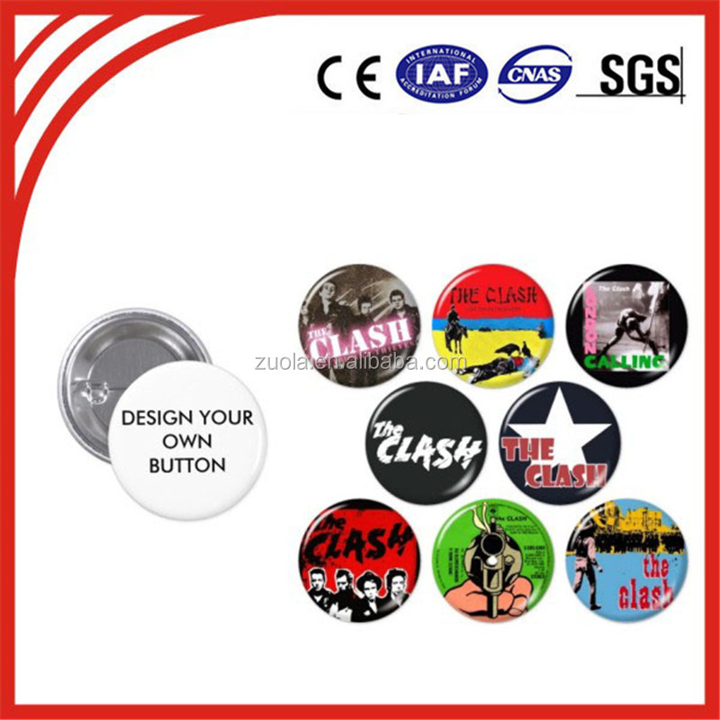 Custom badge buttons metal pin badge with your logo