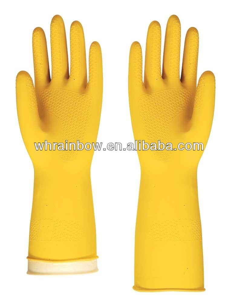safety work latex household cleaning glove with CE certificate