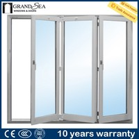 Free sample wooden grain color aluminum framed accordion doors with locks drawing