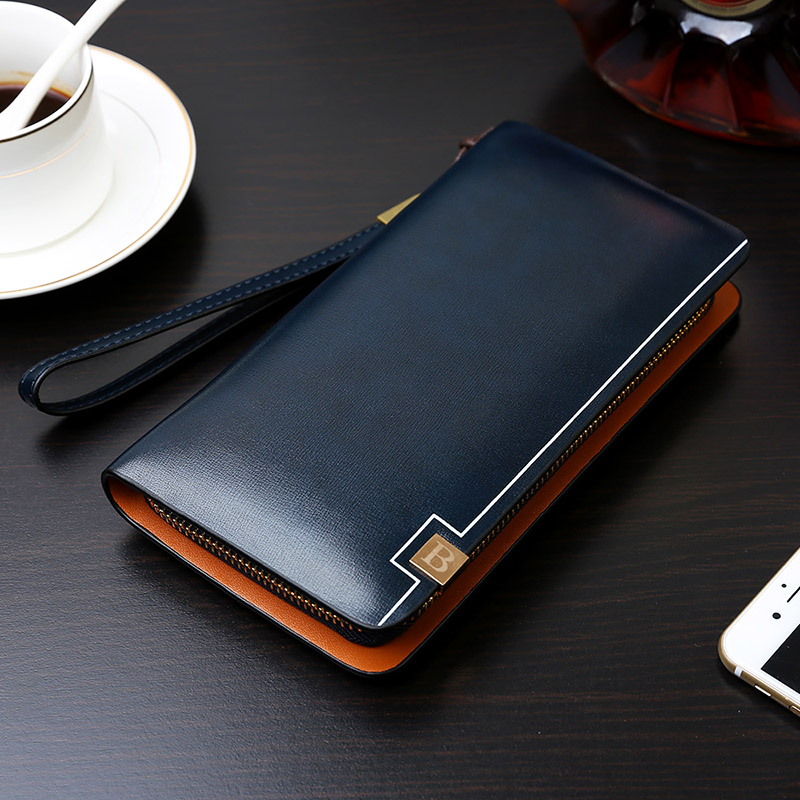 New Luxury Brand, Italian vegetable tanned leather clutch bag,luxury Men genuine leather long wallet
