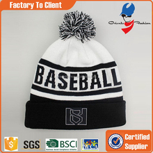 Low price new coming warm beanie ski bobble hat