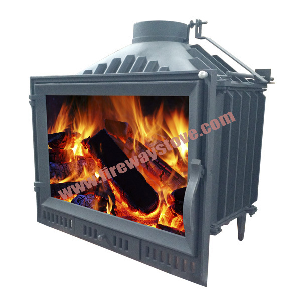 Modern design 180mm flue size wood burning cast iron for Modern wood burning insert