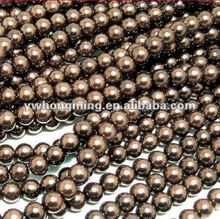 Wholesale 3mm/4mm/5mm/6mm/10mm/12mm glass pearl beads coffee color!