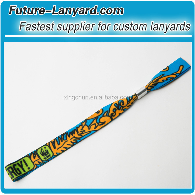 Wholesale Professional festival fabric wristbands