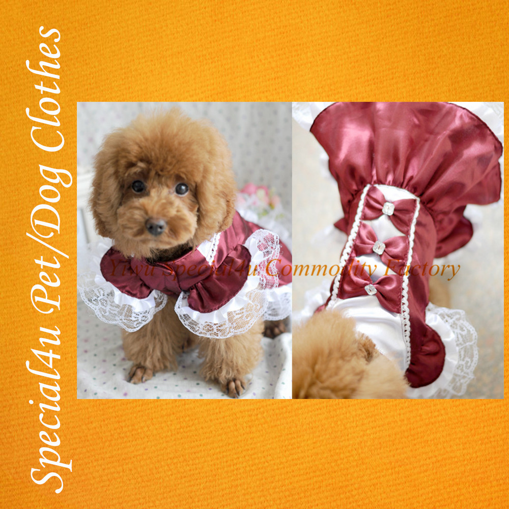 High Quality cute dogs pretty dresses pet wedding dress pet dog dress pet party clothes SHLY-1003