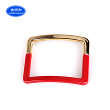 2017 Best selling high quality cheap plastic decorate shoe buckle for sandal
