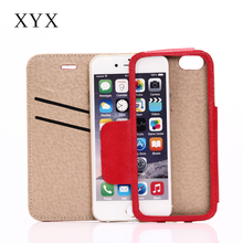 mobile phone accessories for iphone 7 plus pc tpu case with cresit card slots