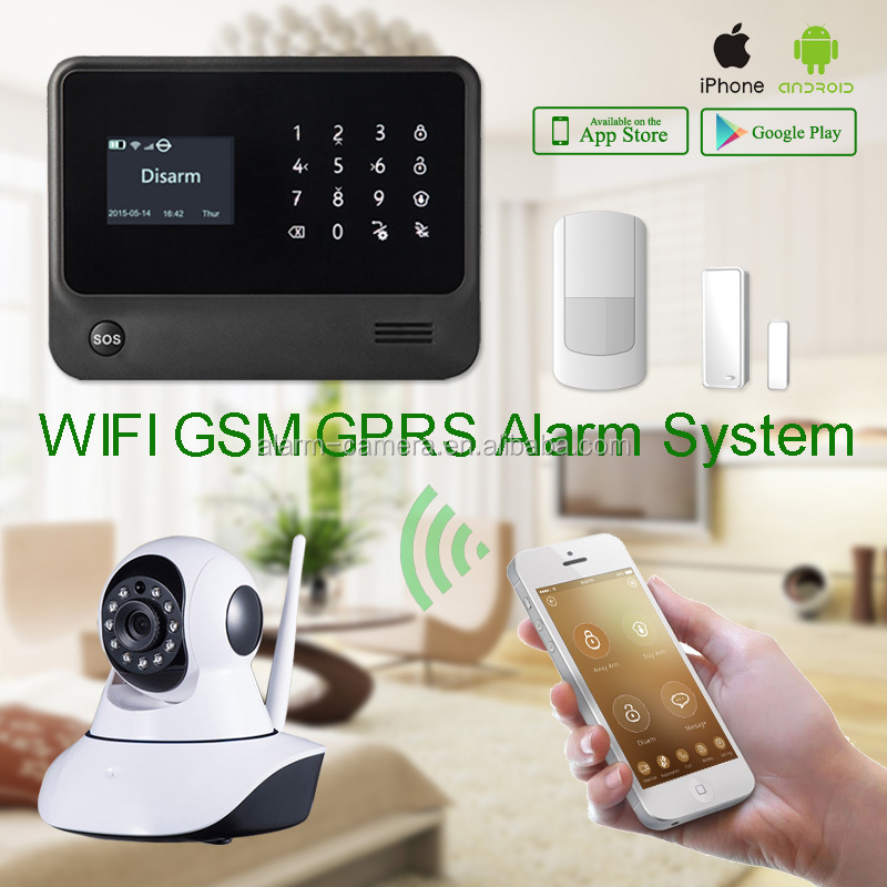 Touch keypad mobile phone call supported wireless security burglar alarm system G90B & WIFI alarm system