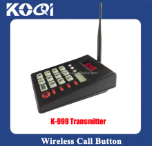Wireless Transmitter Keyboard K-999 for restaurant queue services new arrive