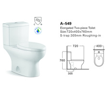 portable toilet for home bathroom fitting ,siphonic flushing high quality with good water system white color wc A-549