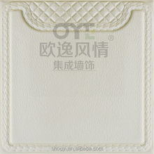 China PU faux leather for Interior Decoration full specification 2016 new design leather wall panel