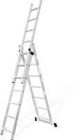 3 section Aluminum adjustable combination Step Extension Ladder