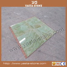 Sale Green onyx composite ceramic for living room floor tile