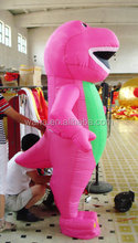 2015 new design giant inflatable pink large Christmas dinosaur