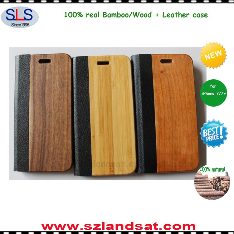2017 hot natural bamboo phone case wood cover for wood case iphone 6s 7 IPC337H