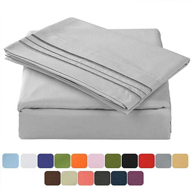 100% polyester high quality microfiber soft full size bedding bed sheets